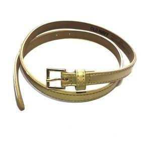 Old Navy metallic gold skinny belt  XS/S